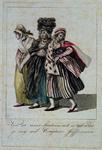 RI-1507-II Opgedirkte vrouwen, spotprent op volksmeisjes.