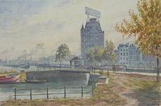VII-389-24-12-2 Gezicht op de Nieuwehaven met de Roobrug en de Oudehaven en het Witte Huis, uit het oosten.