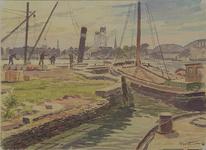 VII-449-00-07 Gezicht bij het Oudehoofdplein, op de mond van de Oudehaven bij het Oudehoofd, uit het noorden. Op de ...