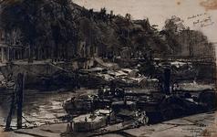 VII-538 Gezicht op de Wijnhaven, bij de Grote Wijnbrug.