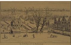 VIII-92-1 De Oostpoort bij de Slaak en de Goudsesingel, op de achtergrond drie Kralingse molens.
