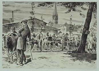 XIV-110-07 De veemarkt, gezien uit het zuiden.