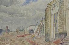 XVII-19-109-2 De sloop van het oude station.