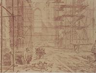XVIII-128-00-36 Restauratiewerkzaamheden aan de Grote Kerk op het Grotekerkplein.