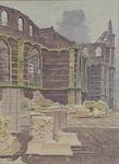XVIII-128-00-38 Gedeelte van het koor en de noordelijke zijbeuk van de Grote Kerk op het Grotekerkplein.
