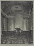 XVIII-232-00-03 Sint-Laurensstraat. Interieur van de Doopsgezinde kerk, naar de preekstoel gezien.
