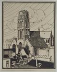 XVIII-82-00-01 Grote of Sint Laurenskerk aan de Sint-Laurensstraat, uit het zuidwesten.