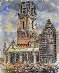 XVIII-82-04-2 De Grote Kerk na het bombardement.