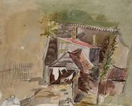 XXIV-31 De achterzijde van het café In den Rustwat aan de Honingerdijk.