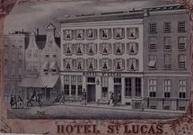 XXIV-38 Gezicht op het hotel St. Lucas in de Hoogstraat uit het zuidoosten.