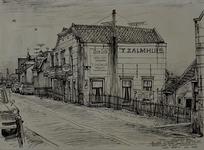 XXIV-65-00-00-02-1 Gezicht op café-restaurant Het Zalmhuis aan de Schaardijk, vanuit het oosten. De bel aan de zijgevel ...