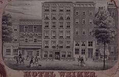 XXIV-72 Hotel Weimar aan de Spaansekade uit het zuidwesten.