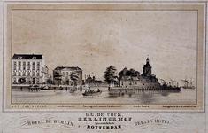 XXIV-75 Gezicht op het hotel Hof van Berlijn aan de Spaansekade.