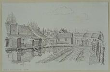 XXXI-406-05-00-01 Gezicht op de achterzijde van de Neel Gijsenstraat bij de Zestienhovensekade vanaf de Achterdijk, uit ...