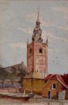 XXXI-456-01 Gezicht op de Nederlandse Hervormde kerk aan de Delftse Schie te Overschie.