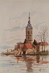 XXXI-456 Gezicht op de Nederlandse Hervormde Kerk aan de Delftse Schie te Overschie, uit het zuidwesten.Kerk te ...