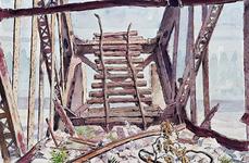 XXXIII-1010-25-2 18 mei - 3 septemberEnergiemanifestatie E55.De verwoeste Moerdijkbrug.