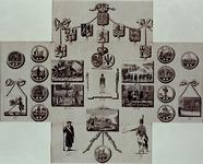 XXXIII-41 1788Openslaande plaat met spotprenten op de strijd tussen Patriotten en prinsgezinden.