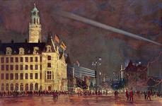 XXXIII-739-14-4 31 augustus - 6 september 1948Kroningsfeesten.Verlichting van de Coolsingel.