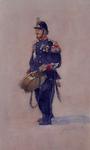 XXXIV-45-05 1899Afbeelding van een tamboer van de Rotterdamse Schutterij.