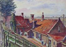 1971-2212 Gezicht op de woningen aan de Ringdijk.
