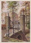VERHEUL-NR-279 Inrijhek met gemetselde bekpijlers van het buitengoed Het Huys te Donck aan de Ringweg in ...