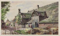VERHEUL-NR-319 Kleine boerderij met aangrenzende arbeiderswoningen, Molendijk C 258 in Ridderkerk.Bewoner boerderij A. ...