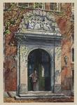 VERHEUL-NR-396 De hoofdingang aan de zijde der binnenplaats van het Gereformeerd Burgerweeshuis aan de ...