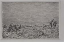 IX-550-00-14-04-01 Gezicht op de Charloisse Lagedijk, ten noorden van boerderij De Kapel, uit het zuiden. Op de ...