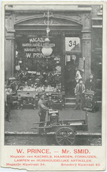 PBK-10767 Het pand van W. Prince mr. Smid, magazijn van kachels, haarden en fornuizen aan de Kipstraat nummer 34.