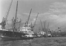 1990-1544-EN-1545 Gezichten op de Schiehaven.Afgebeeld van boven naar beneden:-1544: op de achtergrond de oude ...