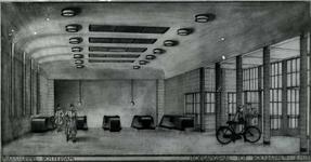 -1561 Foto's van bouwwerkzaamheden, van technische tekeningen e.d. betreffend de bouw van de Maastunnel. De ...