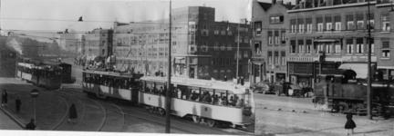IX-2606-01 De Putselaan met Electrische tram en Stoomtram.