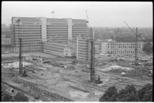 304862-16 Bouwterrein nabij het Dijkzigt ziekenhuis ten behoeve van de bouw van de Medische Faculteit. (Het Provisorium ...
