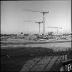 8323 Fundering voor nieuw gebouw Nederlandse Economische Hogeschool op Woudestein.