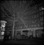 8762 Bomen worden bespoten i.v.m. spreeuwenoverlast op de Goudsesingel, voor winkel Gebroeders de Jong, electricien J. ...