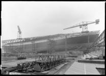 RDM-11203-3 Het passagiersschip SS Nieuw Amsterdam (2) (RDM-200) van de Rotterdamse Droogdok Maatschappij, RDM, voor de ...