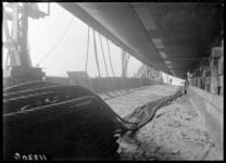RDM-11220-3 De bouw van het passagiersschip SS Nieuw Amsterdam (2) (RDM-200) met remdraden voor de tewaterlating, ...
