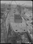 RDM-20537 De tanker SS Chelwood Beacon (RDM-301) in aanbouw op helling 7 dokhaven van de Rotterdamse Droogdok ...