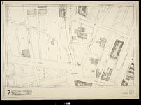 2006-886-7 Kaart van het verwoeste gebied in het centrum van Rotterdam, blad 7: omgeving Oostplein.