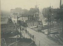 1970-1771 Havenstraat met op de voorgrond de Aelbrechtsbrug. Linksachter de Schiedamseweg, rechtsachter de ...