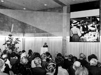 1971-2389-TM-2395 Interieur van het derde depot Gemeentearchief aan de Mathenesserlaan. Tijdens voorstelling voor ...