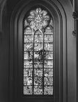 1976-890-EN-891 Glas in lood ramen in het verpleeghuis Sint-Antonius aan de Nieuwe Binnenweg 33.Afgebeeld van boven ...