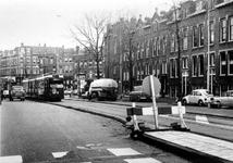 1977-1749 Vrije trambaan in de Vierambachtsstraat. Op de achtergrond de Gerrit Jan Mulderstraat.