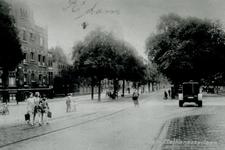 1980-334 Gezicht in de Mathenesserlaan bij de Heemraadssingel vanuit de Heemraadsbrug gezien.