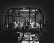 1984-96 Tunnel in aanbouw voor de metro bij de Schiedamseweg.