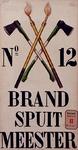 XXXIII-107-01-5 Ontwerptekening voor de bordjes aan de woningen van de Brandspuitmeesters.