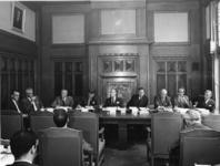 1968-1321 Een persconferentie op het kantoor van de Graan Elevator Maatschappij (GEM), als gevolg van de tegenstand van ...