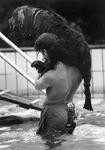 1989-2105 Aan het eind van het zomerseizoen mogen honden en hun baas één maal genieten in het buitenbad van ...