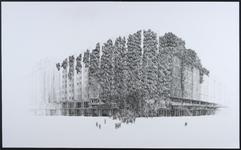 9 Deze tekening van het Groothandelsgebouw aan het Weena / Stationsplein maakt onderdeel uit van een serie van 10 ...